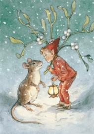 Molly Brett kaart 'Under the Mistletoe'