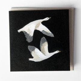 Gemma Koomen 'Snow Geese' greeting card