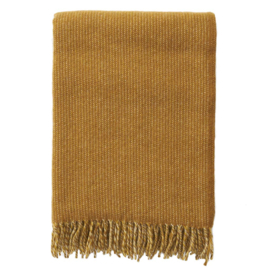 Klippan Shimmer Woven Wool Throw Musterd