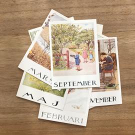 Elsa Beskow Set kaarten 'maanden van het jaar'