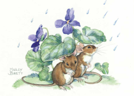 Molly Brett kaart The Mice Shelter from the Rain