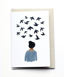 Gemma Koomen 'Bird Thoughts' greeting card
