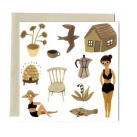 Gemma Koomen 'SUMMER DAYS' greeting card