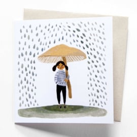 Gemma Koomen 'It Rains' greeting card