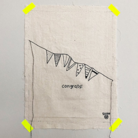 Stitched art congrats