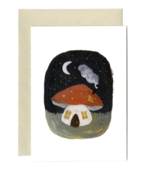 Gemma Koomen 'Toadstool Cottage' greeting card