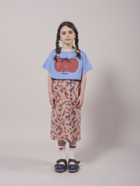 Bobo Choses Strokes all over jersey midi skirt - Dusty pink