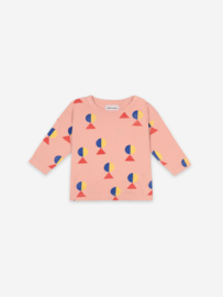 Bobo Choses Geometric all over long sleeve T-shirt - Dusty Pink
