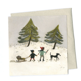 Gemma Koomen 'Out in the Snow' greeting card