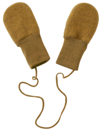 Engel baby-mittens without thumb wool fleece safran melange