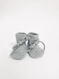 Hvid booties grey melange