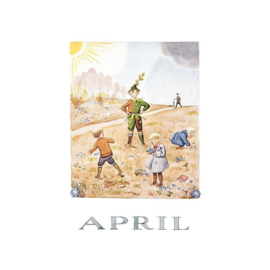 Elsa Beskow kaart April