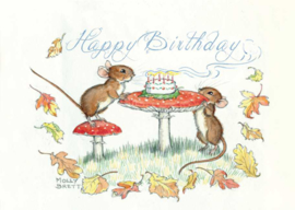 Molly Brett kaart Happy Birthday Mice