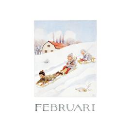 Elsa Beskow kaart Februari