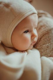 Engel baby-bonnet wool fleece natural