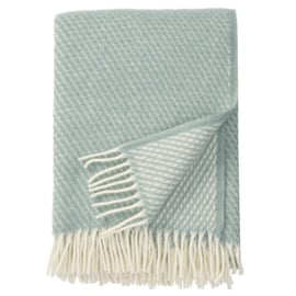 Klippan Velvet Woven Wool Throw Duck Egg Blue