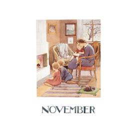 Elsa Beskow kaart November