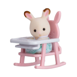 Sylvanian Families Baby Carry Case Rabbit on Babychair