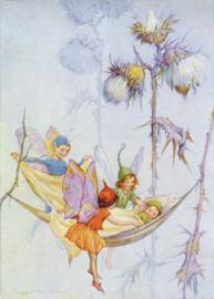 Margaret W.Tarrant  kaart Joan in flowerland