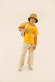 TinyCottons Central Beach Tee - Yellow/Dark Teal