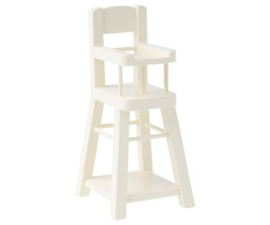 Maileg High chair, Micro - White