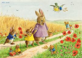 Molly Brett kaart the Comfield Rabbits