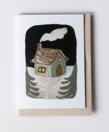 Gemma Koomen 'Winter House' 6x6 Print