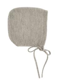 Hvid Bonnet Dolly Grey melange