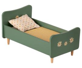 Maileg Houten bed, mini - mint blauw