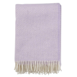 Klippan Preppy woven throw Lilac