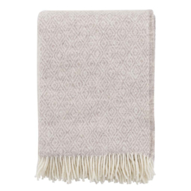 Klippan Stella Woven Wool  Throw Beige