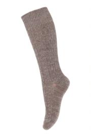 MP Denmark wally knee socks light brown melange