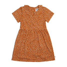CarlijnQ Golden Sparkles - Collar Dress Short Sleeves