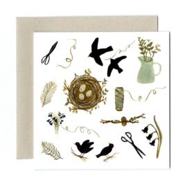 Gemma Koomen 'PIECES OF STRING' greeting card