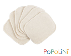 Popolini 6x Cosmetic Pads Knitted Terry Organic GOTS