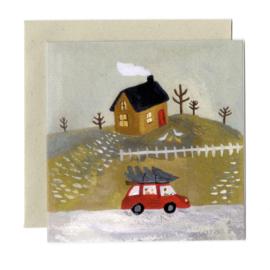 Gemma Koomen 'Bringing Home the Tree' greeting card