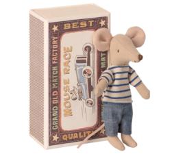 Maileg - Grote broer muis in luciferdoosje