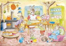 Molly Brett kaart mrs bunny's baking day