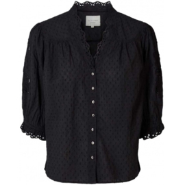 Lolly's laundry Charlie top -Washed black