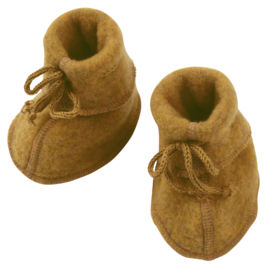 Engel baby-bootees wool fleece safran melange