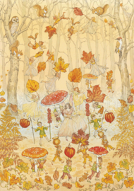 Molly Brett kaart Autumn Procession