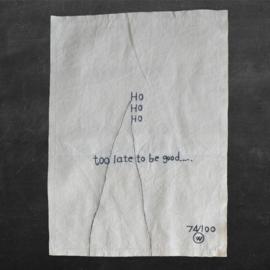 Stitched art 'ho ho ho'