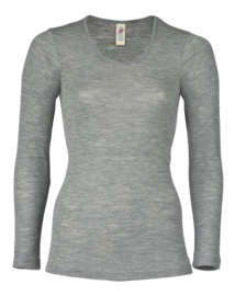 Engel hemd wol zijde light grey