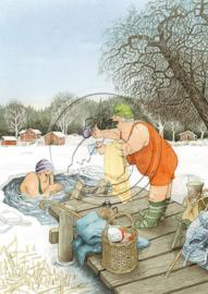 Inge Löök kaart 'Duik in de Winter'