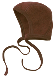 Engel Baby-bonnet, fleece cinnamon