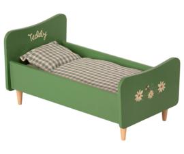 Maileg Houten bed, Teddy papa - dusty groen