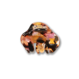 Repose Ams Hair Clamp Small - Brown Marble Pink