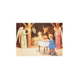 Elsa Beskow kaart De Geboorte van het Kindje Jezus