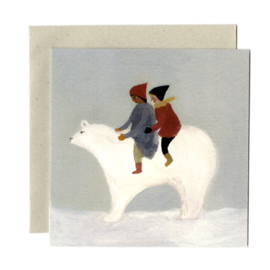 Gemma Koomen 'Snow Bear' greeting card