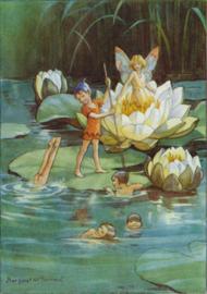 Molly Brett kaart Joan in Flowerland